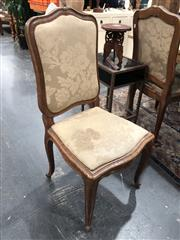 Sale 8822 - Lot 1817 - Set of Six Timber and Fabric Dining Chairs
