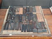Sale 8908 - Lot 1054 - Tray of Vintage Printers Blocks