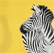 Sale 8964 - Lot 2020 - A giclee on canvas Zebra 76 x 76cm