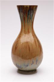 Sale 9052 - Lot 125 - Studio Pottery Drip Glaze Vase (H: 36cm)