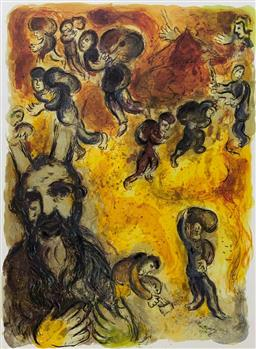 Sale 9108A - Lot 5049 - Marc Chagall (1887 - 1985) - Exodus - Moses 61 x 48 cm (sheet)