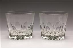 Sale 9110 - Lot 73 - A duo of Tapio Wirkkala Style Gaissa glass vases (2), (H:13cm)