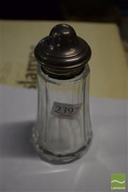 Sale 8448 - Lot 86 - English Hallmarked Sterling Silver & Crystal Salt Shaker