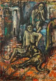 Sale 8467 - Lot 573 - Arrigo Dreoni (1911 - 1987) - Untitled, 1966 98.5 x 68cm