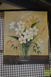 Sale 8506 - Lot 2078 - Artist Unknown, Oil on Canvas, Still Life, 60x50cm