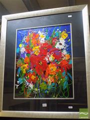Sale 8513 - Lot 2021 - Loretta Blake Spring Bouquet, acrylic on board, 49 x 39cm, signed lower left