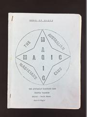 Sale 8539M - Lot 98 - The Australian Magicians Club Monthly Magazine Gems of Magic, 1973