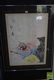 Sale 8530 - Lot 2036 - Budger Julia framed pastel, label to verso
