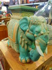 Sale 8648 - Lot 1023 - Ceramic Elephant Stool