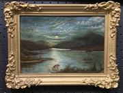 Sale 8686 - Lot 2009 - Artist Unknown - New Zealand Highland Scene, oil on canvas, 23 x 30.5cm (frame size), signed verso and dated 1900