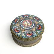 Sale 8795K - Lot 204 - A micro-mosaic topped metal pillbox