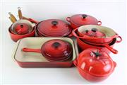 Sale 8860 - Lot 8 - Large collection of Le Creuset ironwares incl. pots, pans and lidded dishes