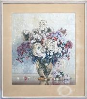 Sale 8427 - Lot 572 - Allan Thomas Bernaldo (1908 - 1988) - Hydrangeas 52 x 46.5