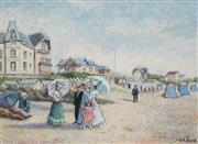 Sale 8704 - Lot 566 - Hugues Claude Pissarro (1935 - ) - Untitled (Day At The Beach) 35.5 x 49cm