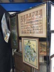 Sale 8789 - Lot 2090 - Group of (3) Balinese Paintings by Various Artists