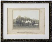 Sale 8994W - Lot 619 - A Framed Photograph Of Veterinary And Farriers Section A.L.H, Liverpool 1915 (31cm x 39cm)