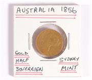 Sale 9035M - Lot 844 - Sydney Mint Australian 1856 Gold half sovereign
