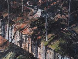 Sale 9134H - Lot 27 - Euan MacLeod (1956 - ) Large Canberra Painting 2 (Rest), 1993 oil on canvas 137.0 x 182.5 cm signed, dated and inscribed verso