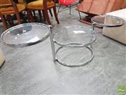 Sale 8440 - Lot 1019 - Modern Glass Top Side table