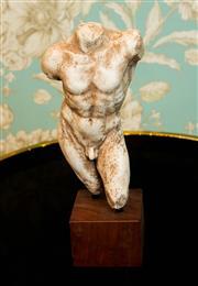 Sale 8448A - Lot 70 - Hercules torso on timber plinth Composition: Plaster & Fiberglass  Condition: New Measurements: 28cm High