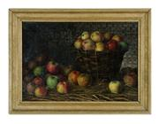 Sale 8660A - Lot 10 - Early European school, possibly Spanish - Still Life of Apples 38 x 55 cm