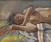 Sale 8708A - Lot 524 - Brian Dunlop (1938 - 2009) - Resting Figure 20.5 x 25.5cm