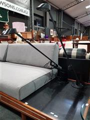 Sale 8782 - Lot 1010 - Bonnetto Cantilever Metal Table Lamps x 2