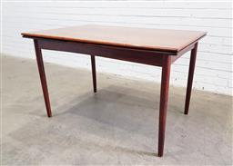 Sale 9117 - Lot 1038 - Danish Rosewood extension dining table (h:74 x w:120 x d:80cm)