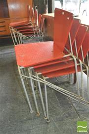 Sale 8310 - Lot 1092 - Set of 9 Australian Metal Framed Chairs