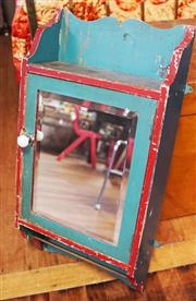 Sale 8320 - Lot 905 - 1950s Painted and mirror fronted medicine cabinet with shelved interior