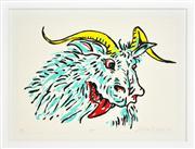 Sale 8347A - Lot 42 - Adam Cullen (1965 - 2012) - Goat 57 x 77cm