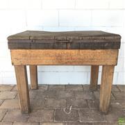 Sale 8649R - Lot 39 - Industrial Style Butchers Block (76 x 90 x 60cm)