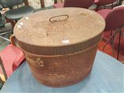 Sale 8676 - Lot 1112 - Metal Hat Box