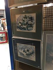 Sale 8752 - Lot 2039 - 3 Works: 2 Prints & an Abstract