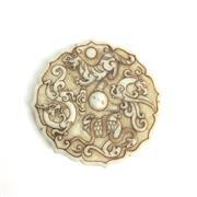 Sale 8795K - Lot 207 - A carved stone ceremonial belt toggle