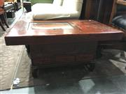 Sale 8795 - Lot 1051 - Oriental Coffee Table with Copper Insert