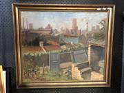 Sale 8807 - Lot 2074 - David Robert Hill, Balmain View to the City