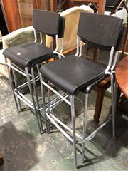 Sale 8822 - Lot 1889 - Pair of Chrome Based Barstools