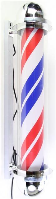 Sale 8980 - Lot 41 - A Reproduction Barbers Pole Light Box (H:95cm)