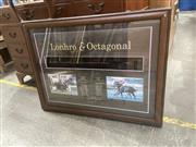 Sale 9091 - Lot 2082 - Framed Jockeys Whip & Photographs Lonhro & Octagonal