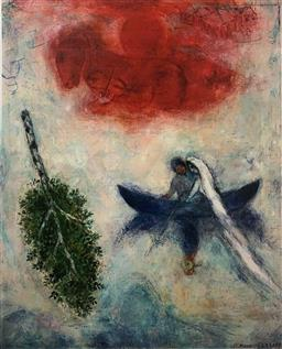 Sale 9108A - Lot 5008 - Marc Chagall (1887 - 1985) - La Barque 77 x 59 cm (sheet)