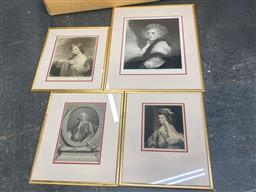Sale 9147 - Lot 2054 - A group of four 19th century mezzotints and engravings including signed works by Joseph B. Pratt & Norman Hurst, largest 78 x 72 cm,...