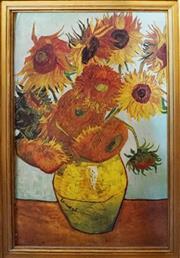 Sale 8320 - Lot 906 - 1980s Large framed Van Gogh sunflower print