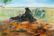 Sale 8504 - Lot 564 - Hugh Sawrey (1909 - 1999) - Untitled (Australian Outback) 60 x 90.5cm