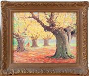 Sale 8562A - Lot 18 - Jules Henry Roy Rousel 1897-1985 - Autumn Landscape 39.5 x 50cm
