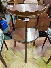 Sale 8570 - Lot 1048 - Tiered Timber Side Table