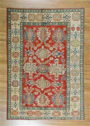 Sale 8625C - Lot 20 - Afghan kazak 243cm x 165cm