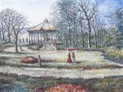 Sale 8704 - Lot 565 - Hugues Claude Pissarro (1935 - ) - Botanical Gardens 36.5 x 49cm