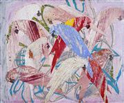Sale 8708A - Lot 517 - Elisabeth (Liz) Cummings (1934 - ) - Parrots 12.5 x 15cm
