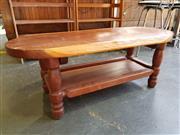 Sale 8795 - Lot 1033 - Hardwood Tiered Coffee Table